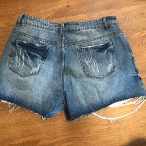 Shorts - High rise distressed denim shorts